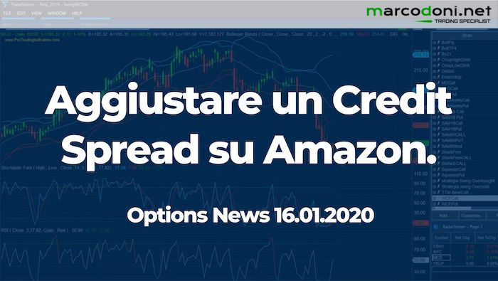 Aggiustamento di un Credit Spread su Amazon